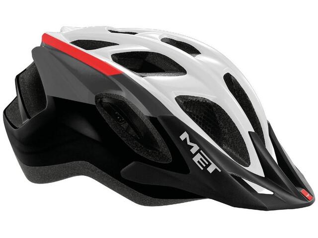 MET Funandgo Helmet white/black/red